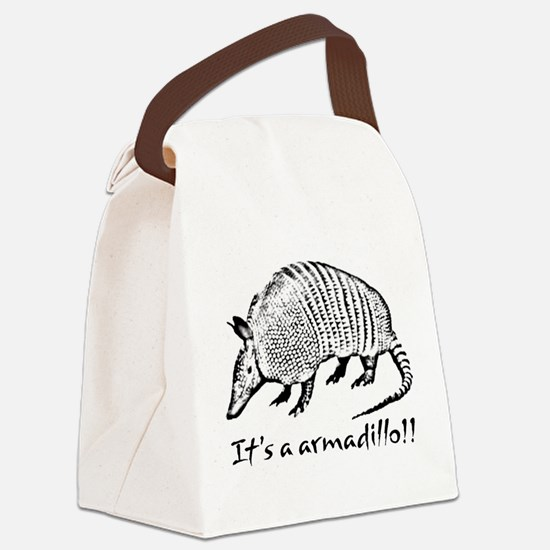 2-armadillo_dark.psd Canvas Lunch Bag