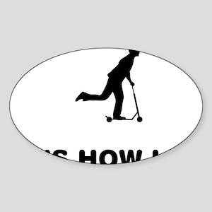 Scooter-02-12-A Sticker (Oval)