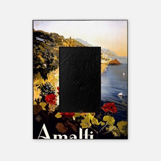 Antique Italy Amalfi Coast Travel Po Picture Frame