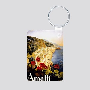 Antique Italy Amalfi Coast Aluminum Photo Keychain