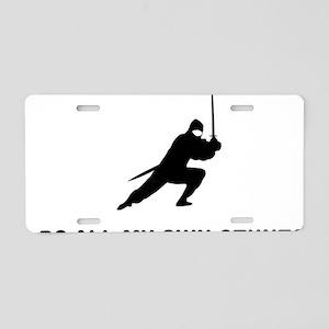 Ninja-01-03-A Aluminum License Plate