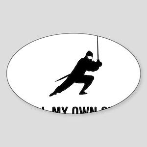 Ninja-01-03-A Sticker (Oval)