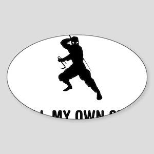 Ninja-02-03-A Sticker (Oval)