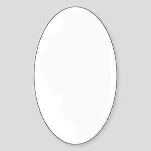 white IL Sticker (Oval)