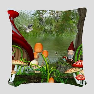 dl_flip_flops Woven Throw Pillow