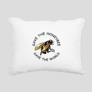 Save The Bee Rectangular Canvas Pillow
