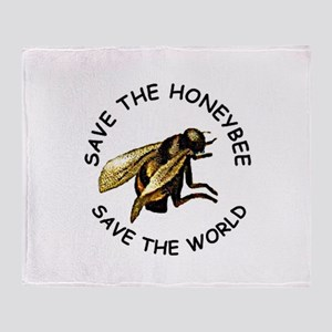 Save The Bee Throw Blanket