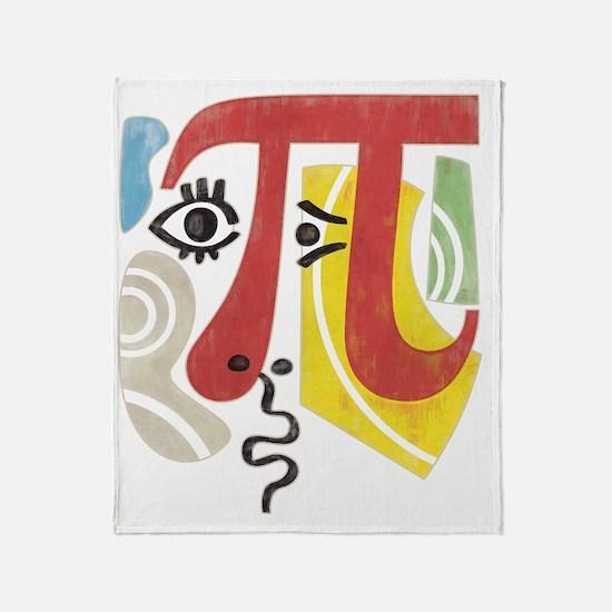 Pi-Casso Pi Symbol Throw Blanket