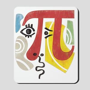 Pi-Casso Pi Symbol Mousepad