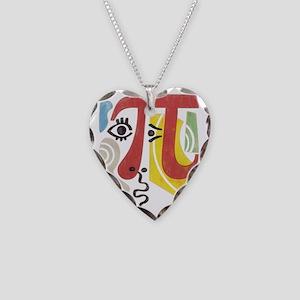 Pi-Casso Pi Symbol Necklace Heart Charm