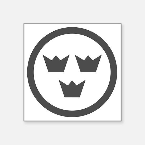"""Swedish AF low vis roundel Square Sticker 3"""" x 3"""""""