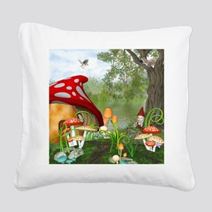 dl_queen_duvet_2 Square Canvas Pillow