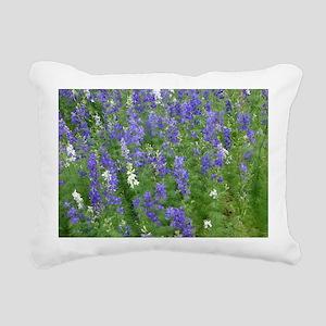 Texas Bluebonnets in Blo Rectangular Canvas Pillow