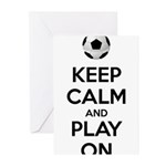 Keep Calm and Play On Greeting Cards