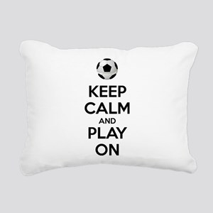 Keep Calm and Play On Rectangular Canvas Pillow