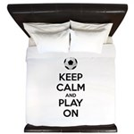 Keep Calm and Play On King Duvet