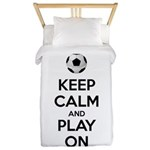 Keep Calm and Play On Twin Duvet
