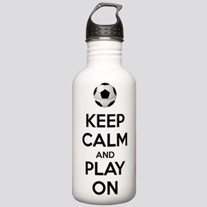 Keep Calm and Play On Botella de agua