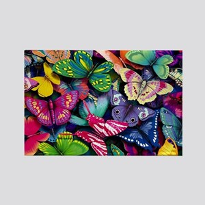 butterfly large Rectangle Magnet