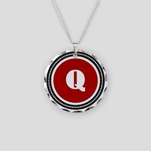 redQ Necklace Circle Charm