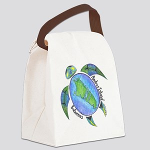 Androsian Turtle Canvas Lunch Bag