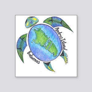 "Androsian Turtle Square Sticker 3"" x 3"""