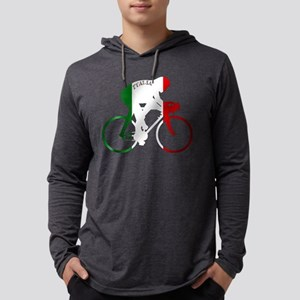 Italian Cycling Mens Hooded Shirt