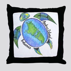 Androsian Turtle Throw Pillow