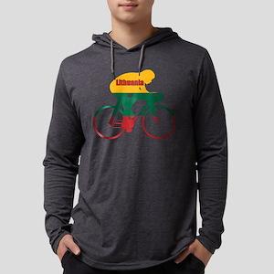 Lithuania Cycling Mens Hooded Shirt