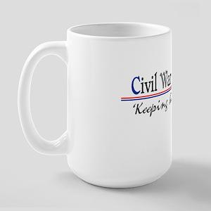 Civil War Reenactor Large Mug