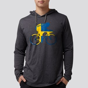 Sweden Cycling Mens Hooded Shirt