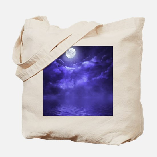 Clouds-Purple-Midnight-Moon-2 Tote Bag