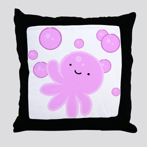 Octobubble Throw Pillow