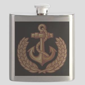 Black and Orange Anchor Flask