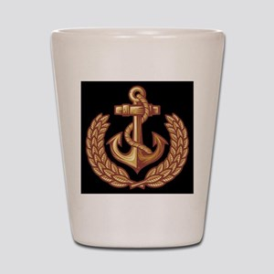 Black and Orange Anchor Shot Glass