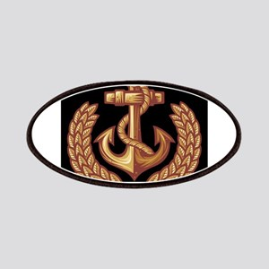 Black and Orange Anchor Patches