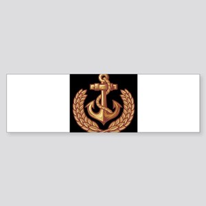 Black and Orange Anchor Bumper Sticker