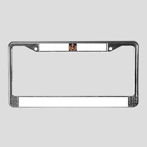 Black and Orange Anchor License Plate Frame