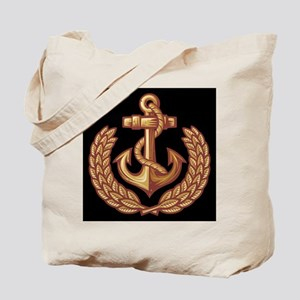 Black and Orange Anchor Tote Bag