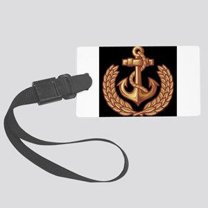 Black and Orange Anchor Luggage Tag