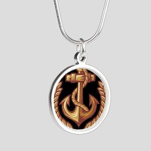 Black and Orange Anchor Necklaces
