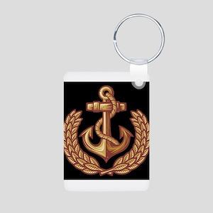 Black and Orange Anchor Keychains