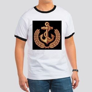 Black and Orange Anchor T-Shirt