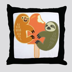 Slothsicle Throw Pillow