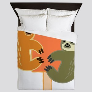 Slothsicle Queen Duvet