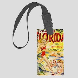 Vintage Florida Vacation Land Large Luggage Tag