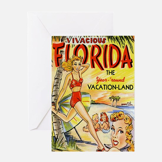 Vintage Florida Vacation Land Greeting Card