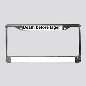 Death before lager License Plate Frame