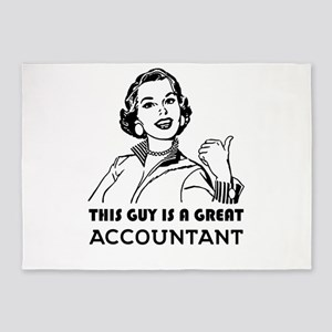 Great Accountant. *BEST SELLER* 5'x7'Area Rug