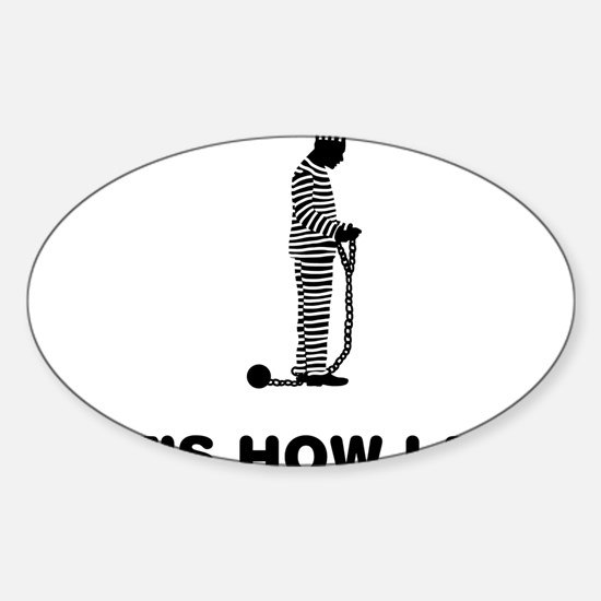 Inmate-12-A Sticker (Oval)